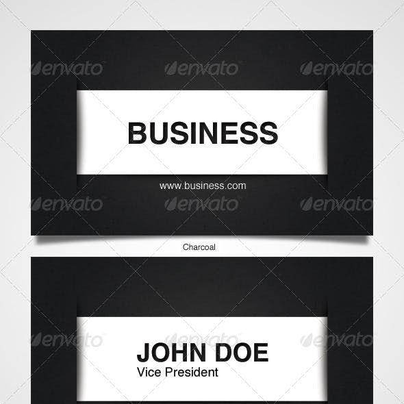 Clean Kraft Business Card (11 colors!)