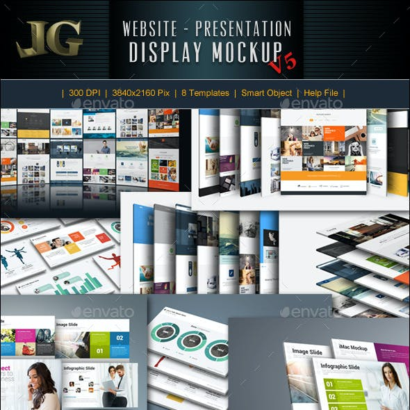 Website Presentation Mockup