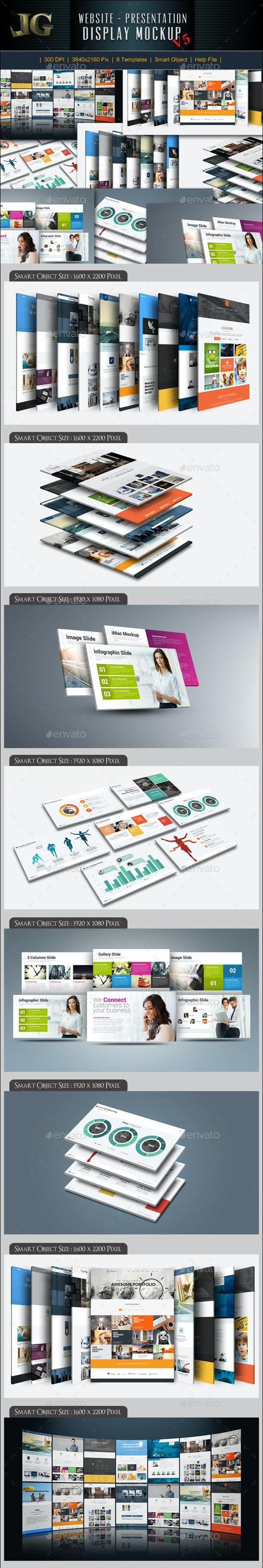 Website Presentation Mockup - Website Displays