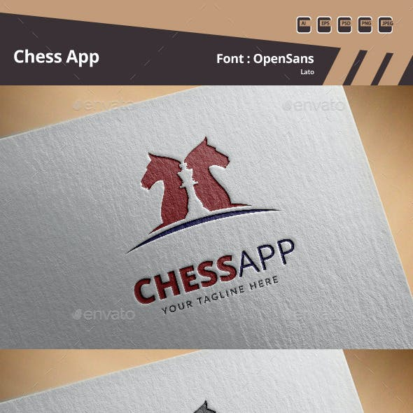 Chess App Logo Template