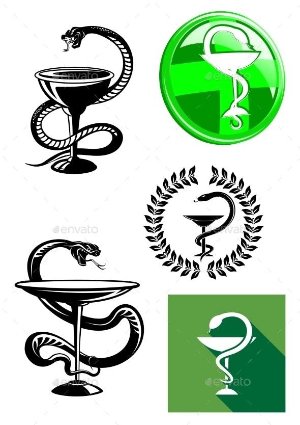 Medicine and Pharmacy Icons - Health/Medicine Conceptual