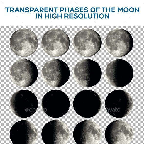 Phases of the Moon with Transparency