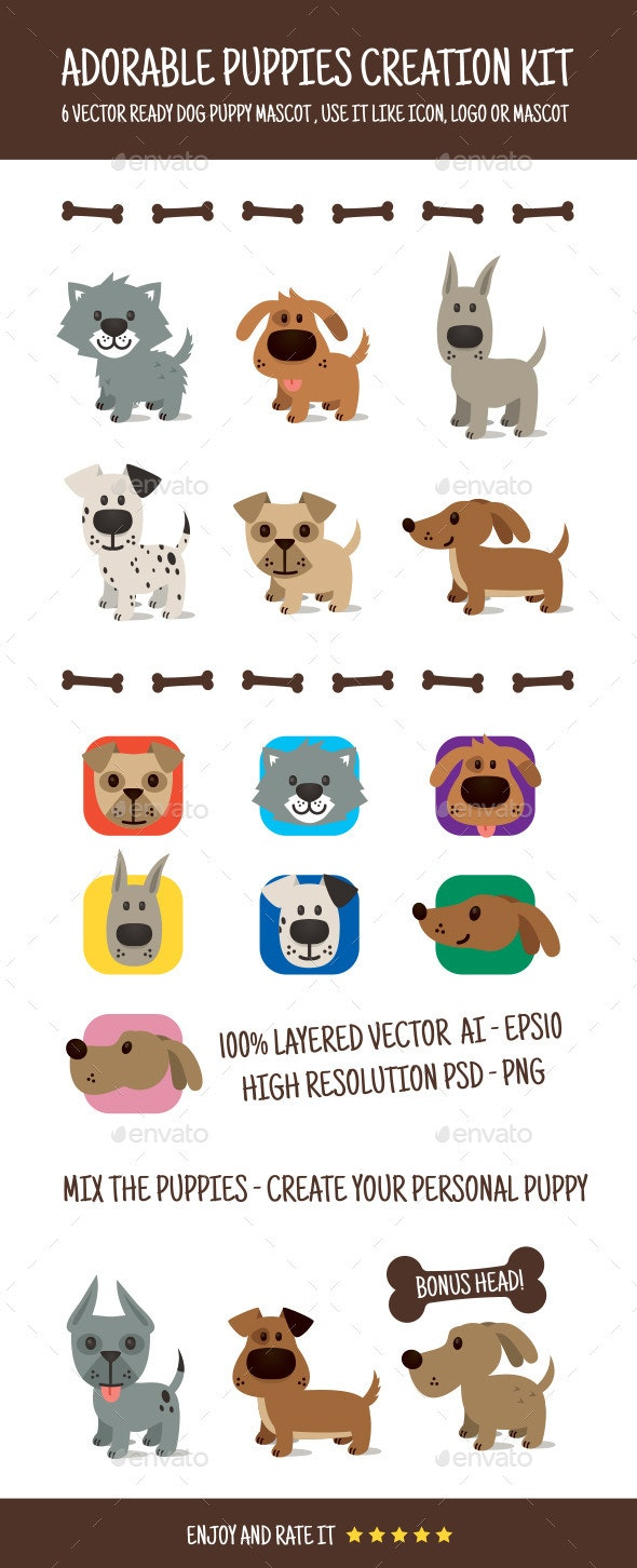 Adorable Puppy Creation Kit - Animals Characters