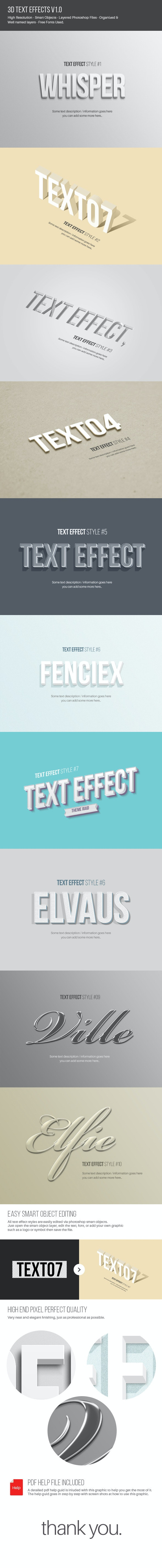 Text Effects V1.0 - Text Effects Actions