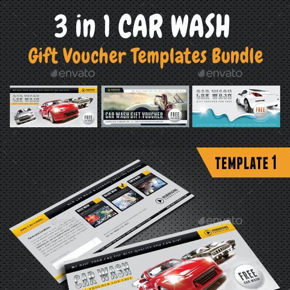 3 in 1 Car Wash Gift Voucher Bundle