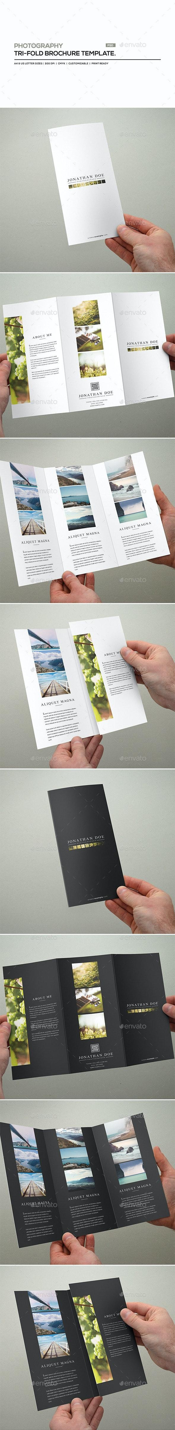 Photography Tri-Fold Brochure Template - Portfolio Brochures