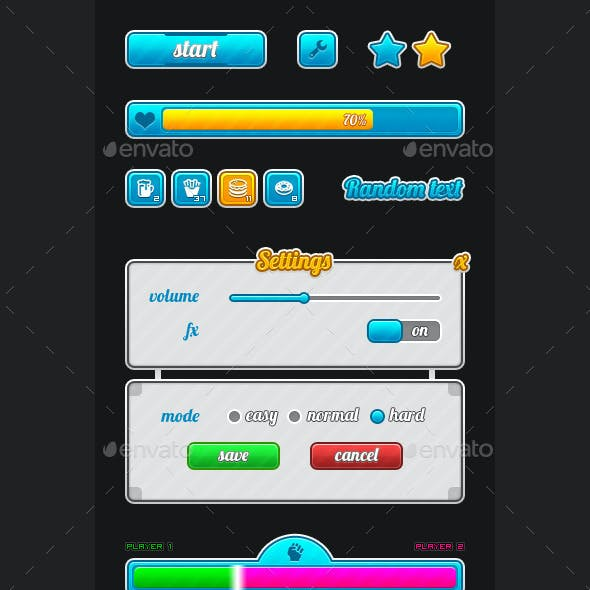 Game UI for Mobile or PC