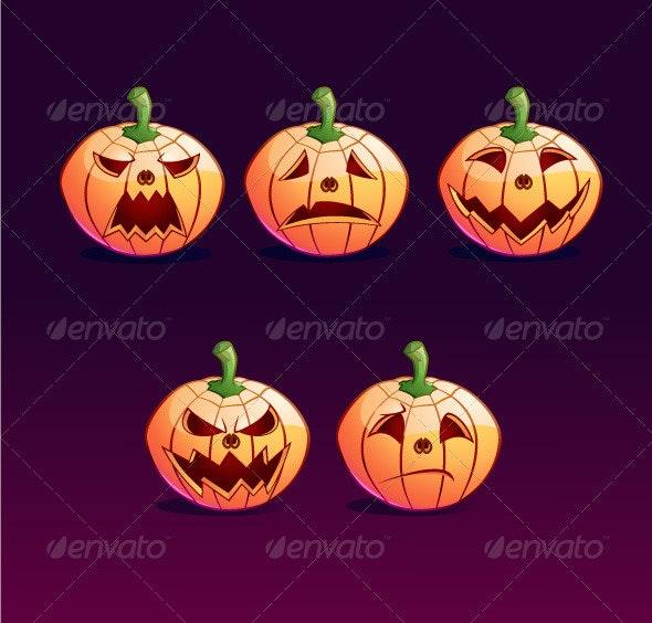 Jack o Lantern Emoticon - Halloween Seasons/Holidays