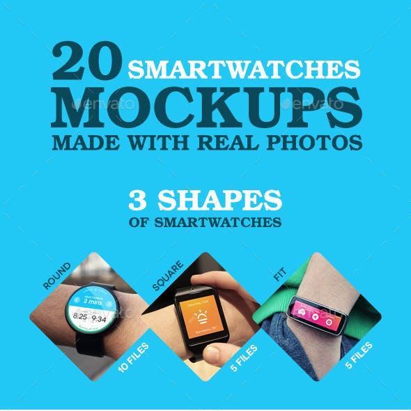 Smart Watch Mockups - 20 Real Photos Mockups