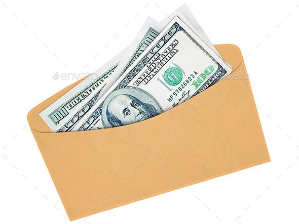 Envelope with Cash - 3D Backgrounds