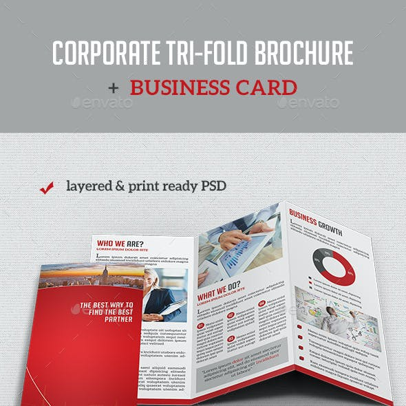 Corporate Tri-Fold Brochure + Business Card