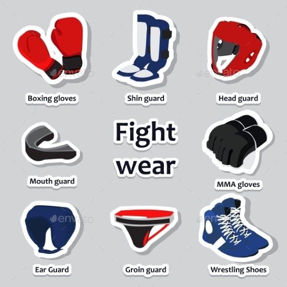 Set of Sport Equipment for Martial Arts