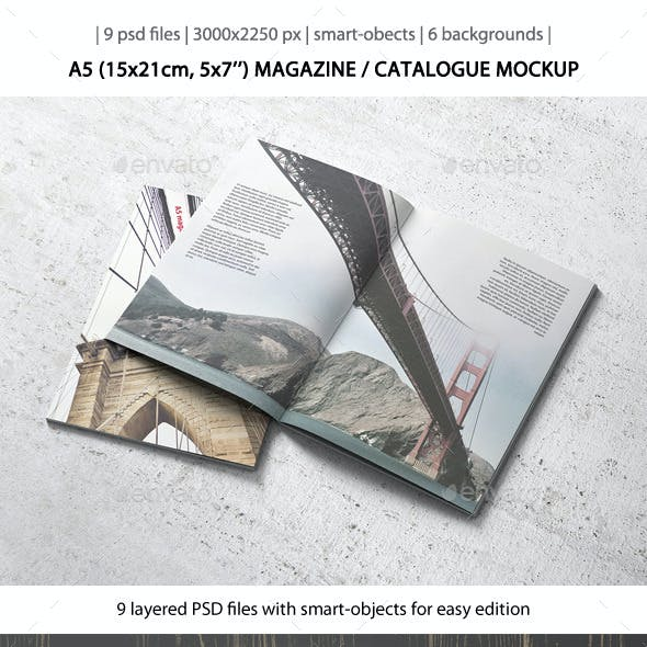 A5 Magazine / Catalogue Mockup