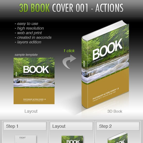 3D Book Cover Mockup Creator