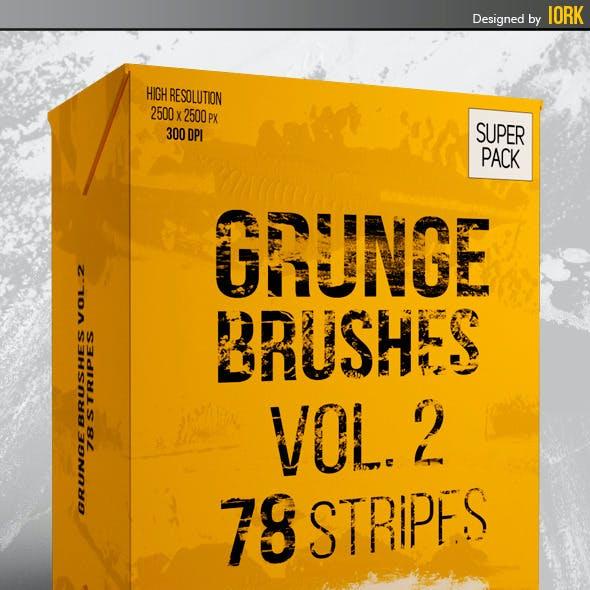 Grunge brushes Vol.2 - 78 stripes