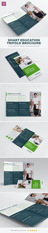 Smart Education Trifold Brochure - Brochures Print Templates