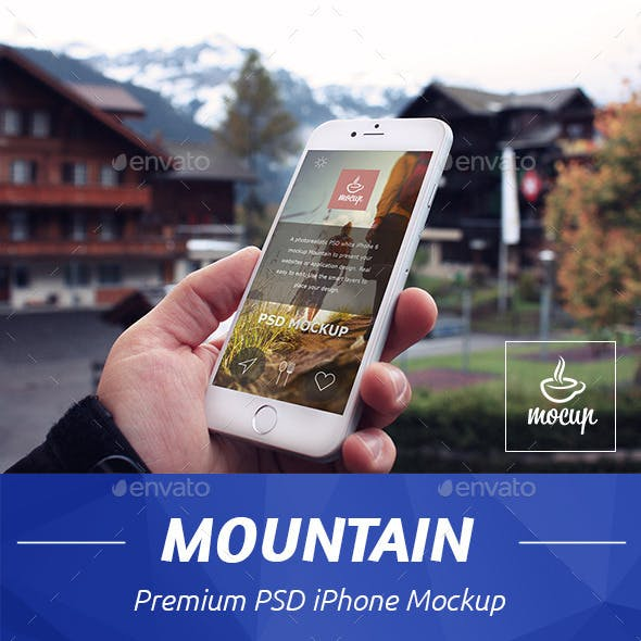 iPhone Mockup Mountain
