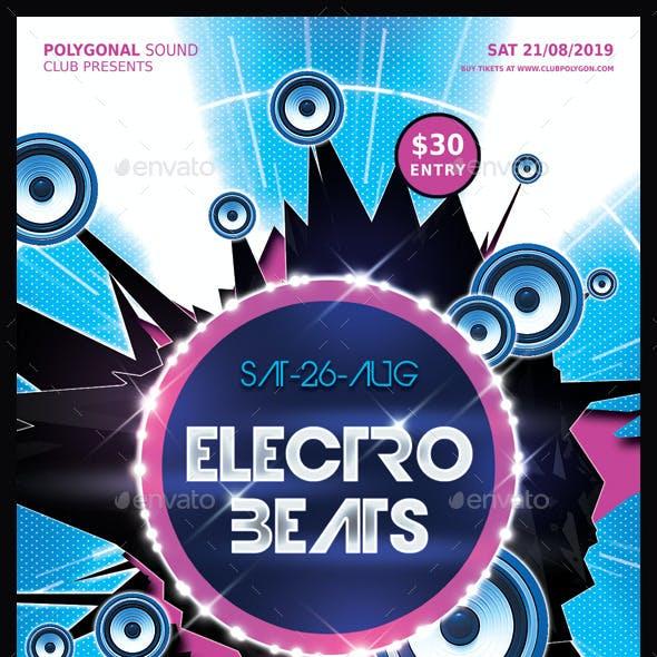 Electro Beats Party Flyer