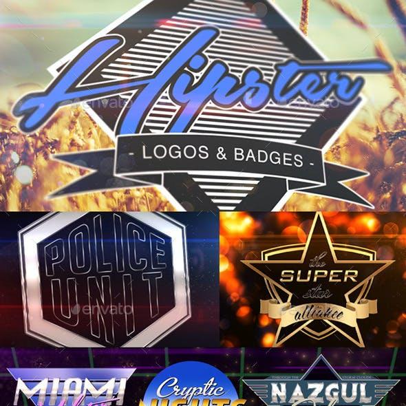 50+ Hipster Logos & Badges