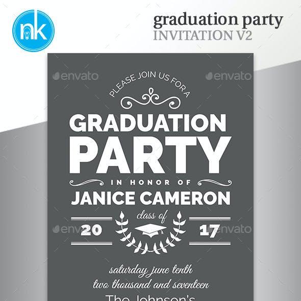 Graduation Party Invitation V2