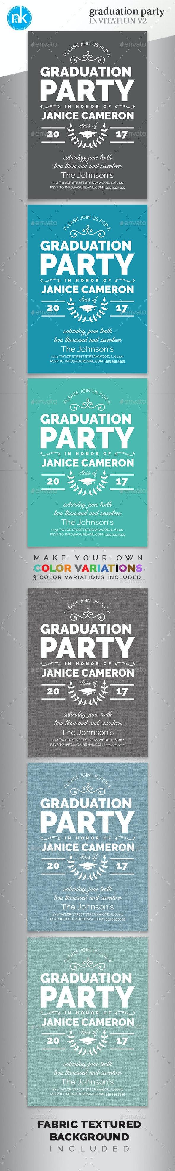 Graduation Party Invitation V2 - Invitations Cards & Invites