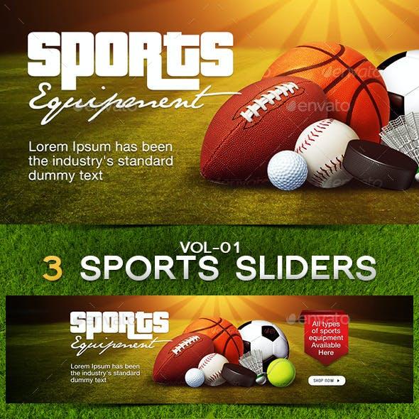 Sports Sliders Bundle - 3 designs
