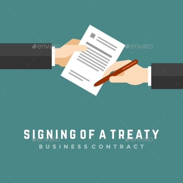 Hands Holding Contract
