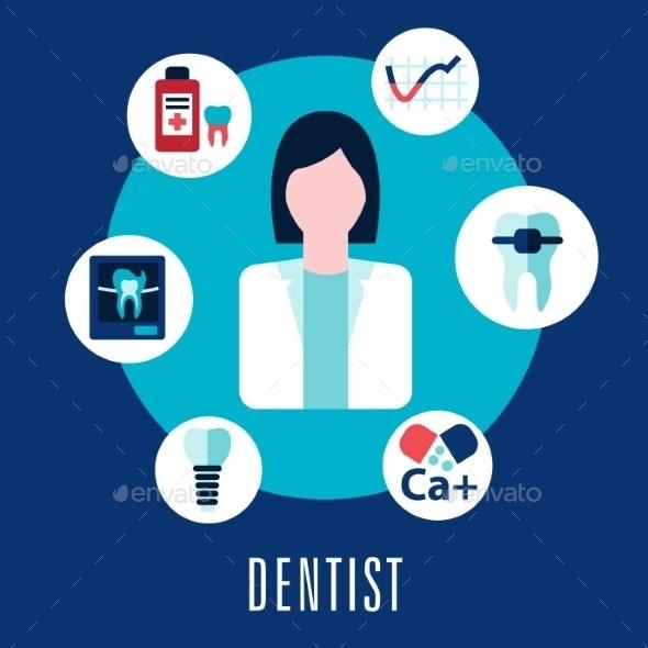 Dentist and Dentistry Concept - Health/Medicine Conceptual