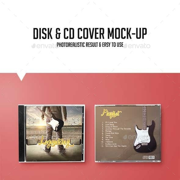 Disk & CD Cover Mock-Up