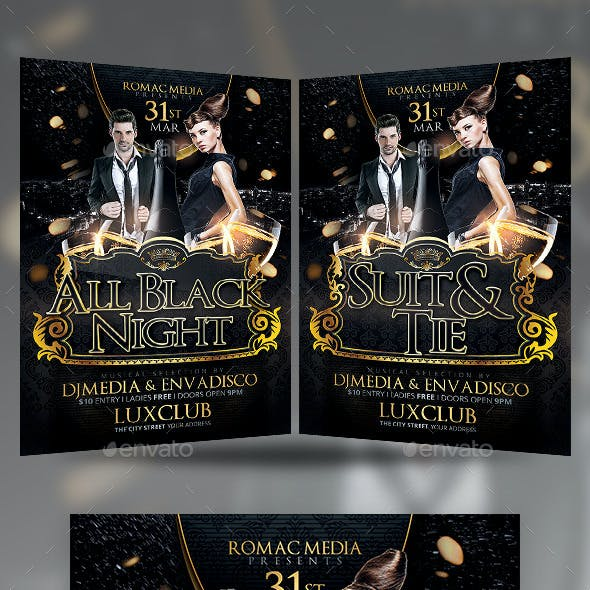 Black and Gold Birthday Party