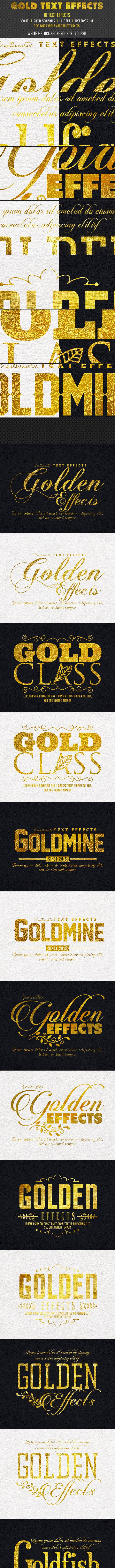 Golden Effects - Text Effects Styles