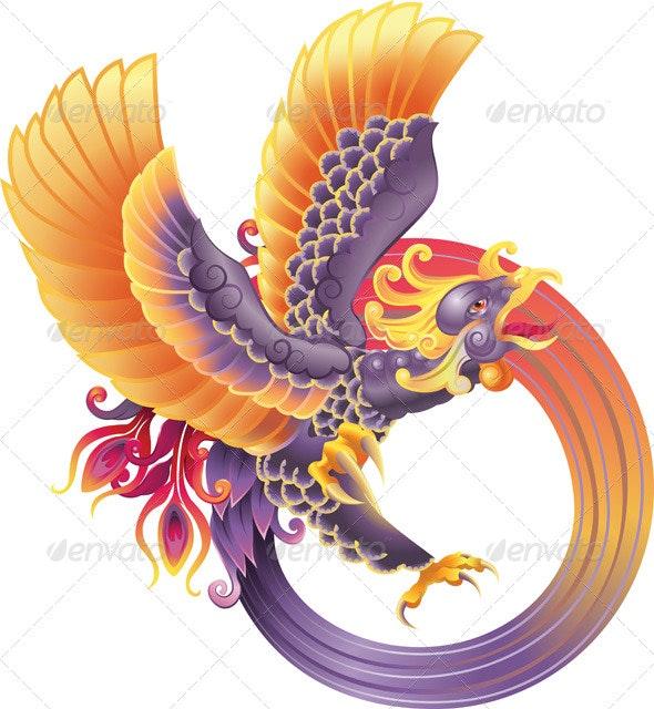 Phoenix Fire Bird - Animals Characters