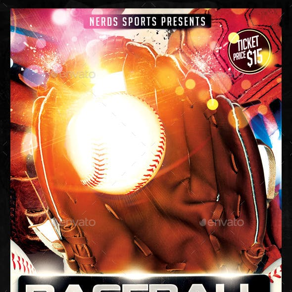 Baseball Competition 2K15 Sports Flyer