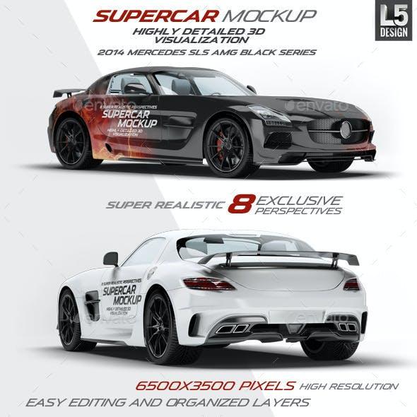 Supercar Mercedes SLS AMG Mock-Up
