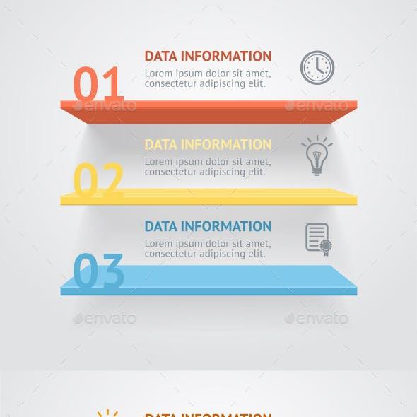 Vector Infografic Shelves