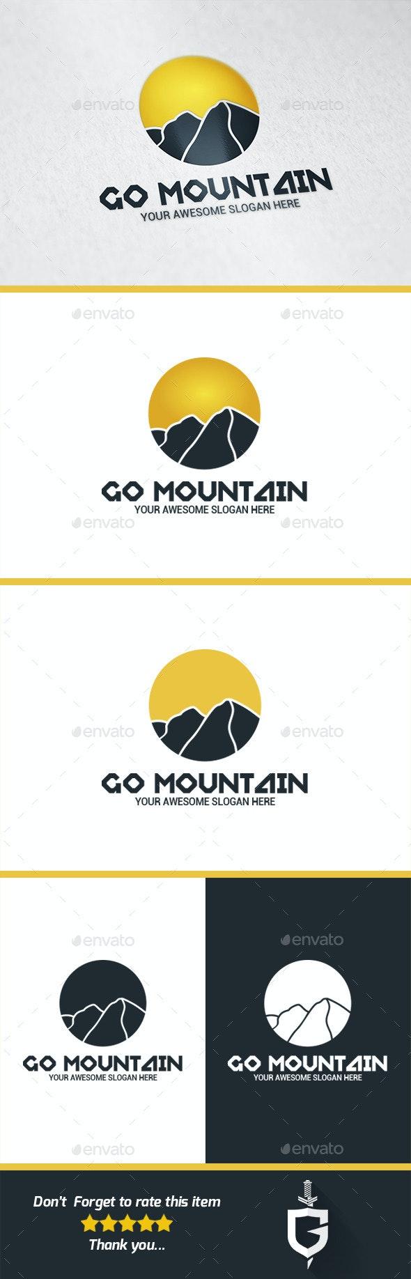 Go Mountain Logo Template - Nature Logo Templates