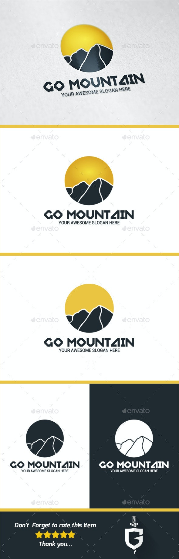 Go Mountain Logo Template - Nature Logo Templates