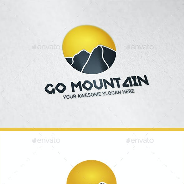 Go Mountain Logo Template
