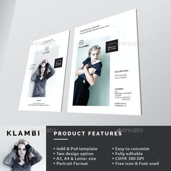 Fashion Show Invitation Flyer/Poster