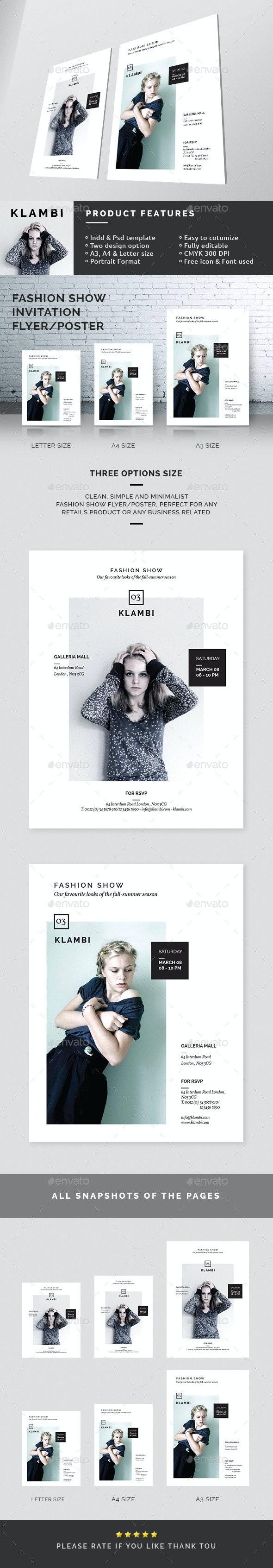 Fashion Show Invitation Flyer/Poster - Miscellaneous Events