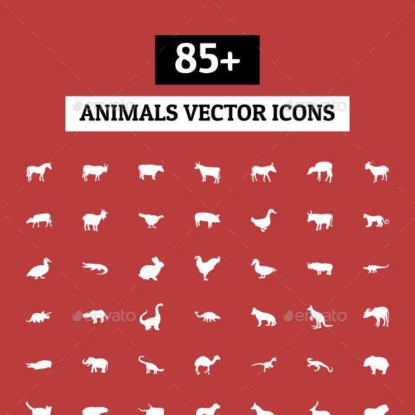 85+ Animals Vector Icons