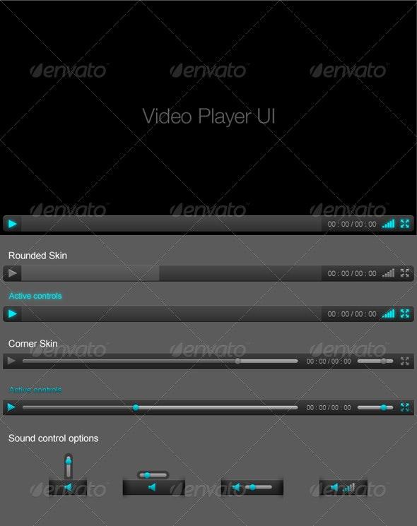 Clean video player ui - Web Elements