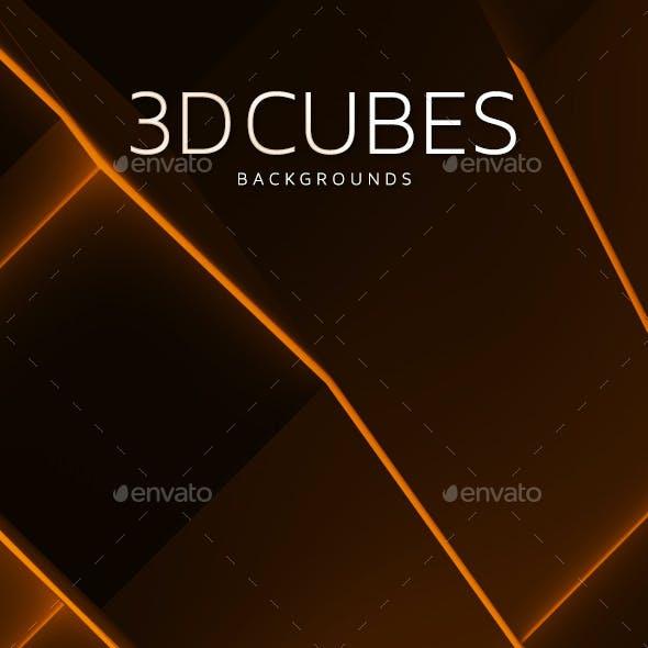 3D Cubes Backgrounds V.2