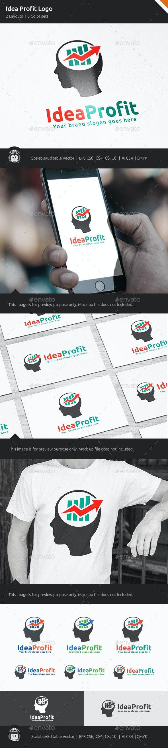 Idea Profit Marketing Logo - Vector Abstract