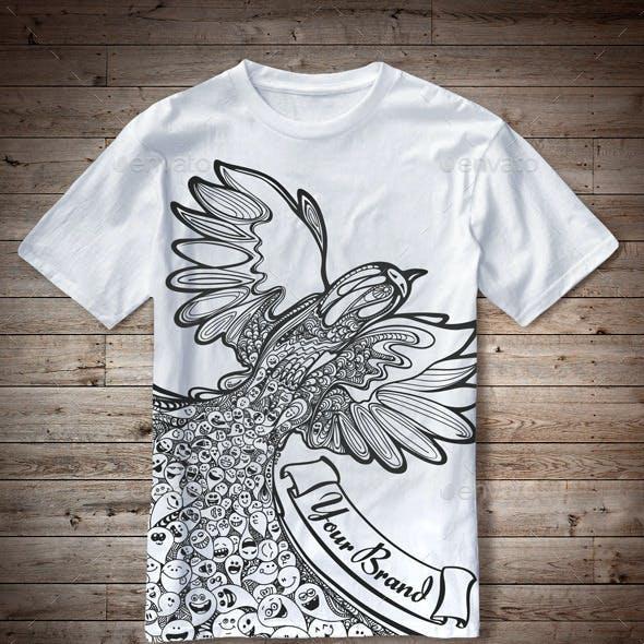 T-Shirt Illustration Bird Doodles