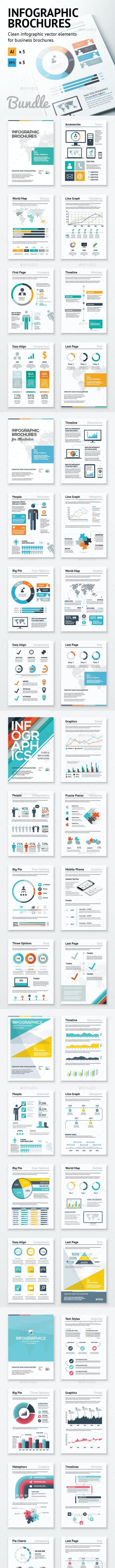 Infographic Brochure Elements Bundle - Infographics