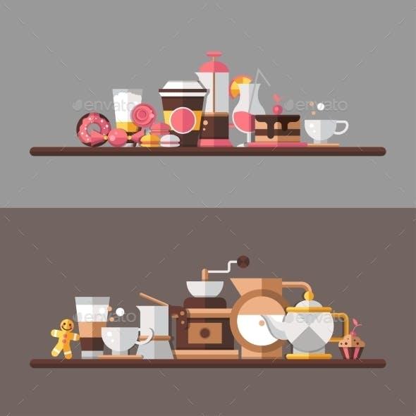 Coffee Shop Shelves