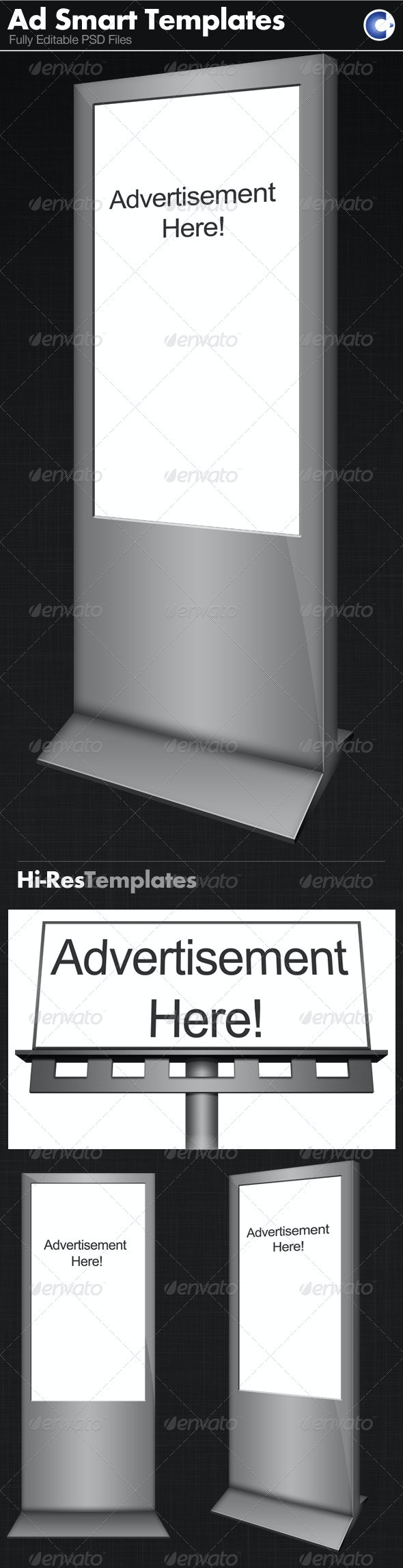 Advertisement Templates - Smart Object - Signage Print