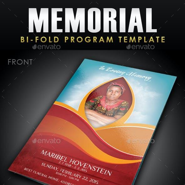 Memorial Program Template 1