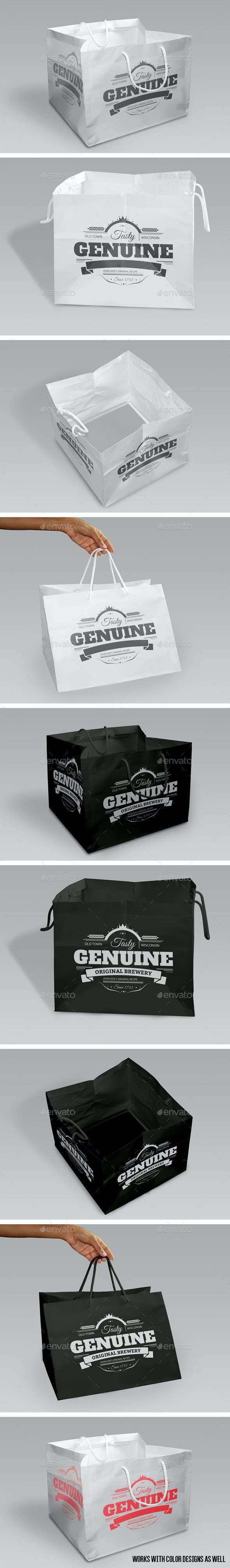 Shopping Bags Mock-Up - Miscellaneous Packaging